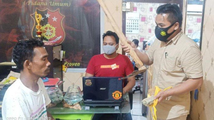 Mengancam Akan Membunuh Satu Keluarga Menggunakan Cangkul, Pria Pamekasan Ditangkap Polisi