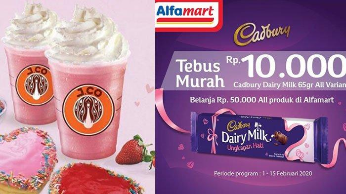 5 Promo Hari Valentine 2020, Alfamart, J.Co, Burger King hingga Holycow, Cokelat Cadbury Rp 10 Ribu