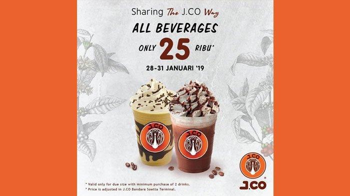 Promo J.CO Coffee Mulai Senin (28/1/2019), Kopi Cuma Rp25 Ribuan, Cek Syarat dan Ketentuan