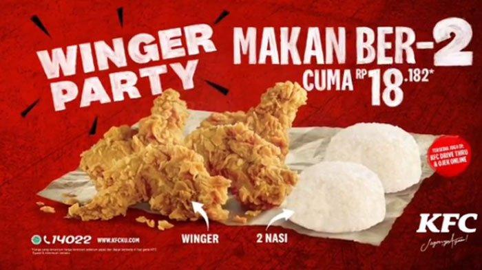 Katalog Promo KFC Hari Ini 11 Mei 2020, Buy 1 Get 1 untuk Super Besar 1 hingga Super Crazy Deal!