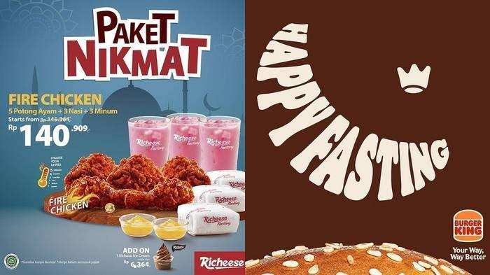 Promo Spesial Ramadan 2021 Richeese Factory dan Burger King, Paket Nikmat hingga Promo Sweet & Spicy