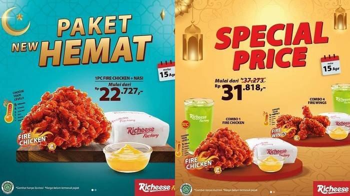Promo Richeese Factory Spesial Ramadan, Paket New Hemat Buat Bukber, Fire Chiken dan Nasi Rp 22 Ribu