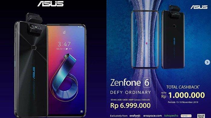 Promo Periode 15-18 November 2019 Pembelian ASUS ZenFone 6, Dapatkan Cashback dan Voucher Pegipegi