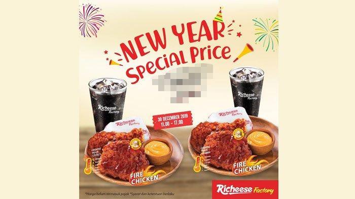 Promo Richeese Factory Hari Ini Senin (30/12/2019) di Akhir Tahun 2019, Cuma sampai Pukul 17.00!