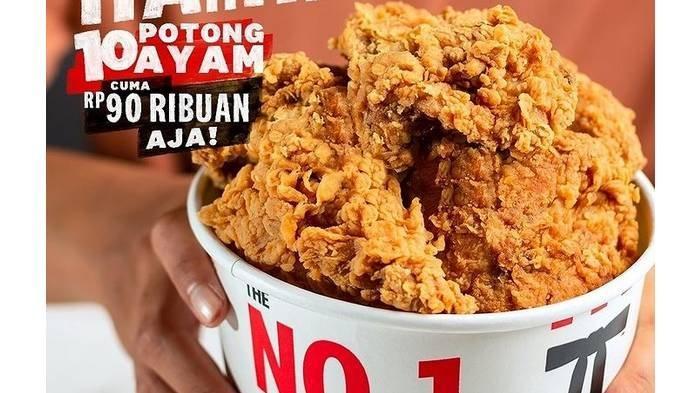Promo The Best Thursday KFC Kamis 3 Juni 2021, Mulai Rp 90 Ribu Dapat 10 Potong Ayam, Ini Syaratnya