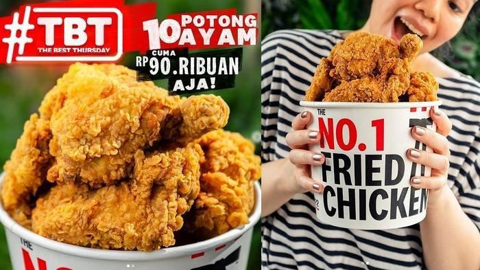 Promo Hari Ini The Best Thursday (TBT) KFC, Cuma Rp 90 Ribu Dapat 10 Potong Ayam, Berlaku Kamis Saja