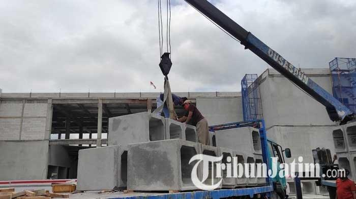 Ditargetkan Selesai Maret 2022, Pembangunan Terminal Patria Kota Blitar Masih Capai 27 Persen