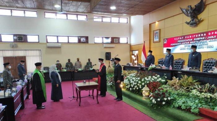 DPRD Kota Blitar Gelar Rapat Paripurna Pengucapan Sumpah Pergantian Wakil Ketua