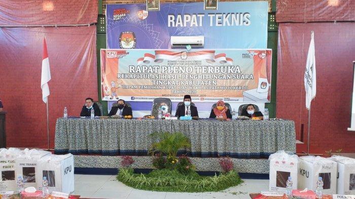 Rekapitulasi Hasil Perhitungan Suara Tingkat Kabupaten di Pilbup Mojokerto 2020