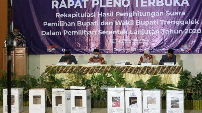 Hasil Rekapitulasi Suara Pilkada Trenggalek 2020: Mas Ipin - Syah Unggul 68,16 Persen