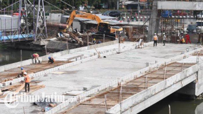 Pylon Sudah Berdiri Kokoh, Progres Proyek Ikonik Jembatan Joyoboyo Sudah di Atas 80 Persen