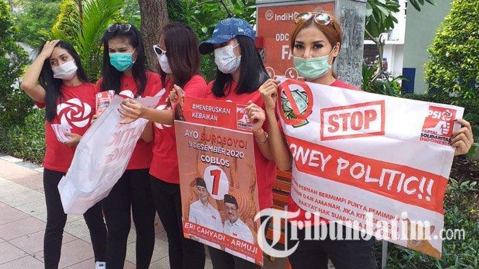 PSI Surabaya Turun ke Jalan Ajak Pemilih Dukung Eri Cahyadi-Armuji dan Tolak Politik Uang
