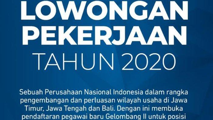 Lowongan Pekerjaan Tahun 2020