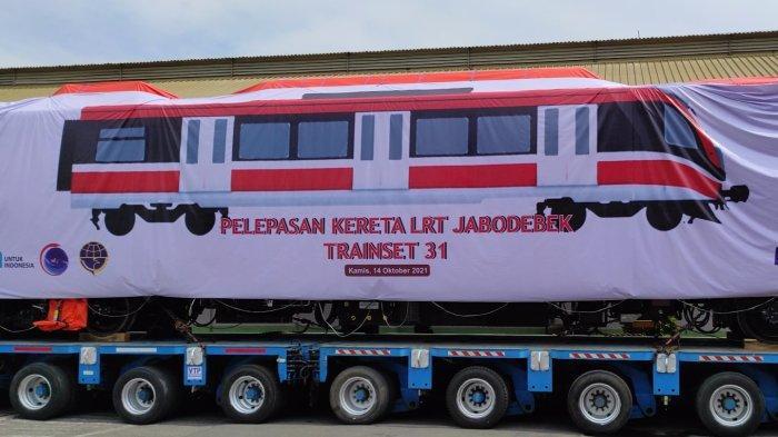 PT INKA Madiun Kirim Trainset Terakhir Proyek LRT Jabodebek, Menko Luhut: Beroperasi Agustus 2022