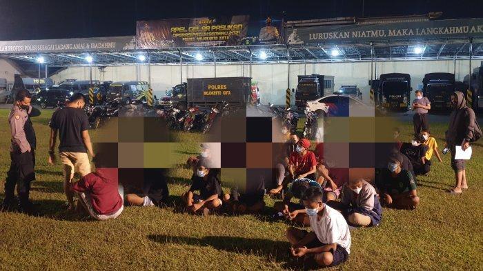 Polisi Tangkap Puluhan Anak Dibawah Umur Terlibat Balap liar di Kota Mojokerto