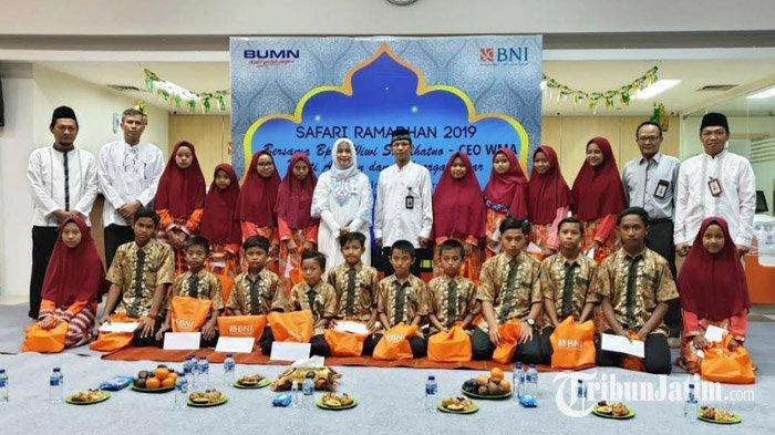 BNI Cabang Probolinggo Beri Santunan Puluhan Anak Yatim, Penuhi Kebutuhan Logistik Selama Ramadan