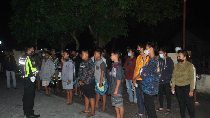Terjadi Aksi Kejar-kejaran Saat Polisi Amankan 35 Kendaraan Balap Liar di Kunjang-Purwoasri Kediri