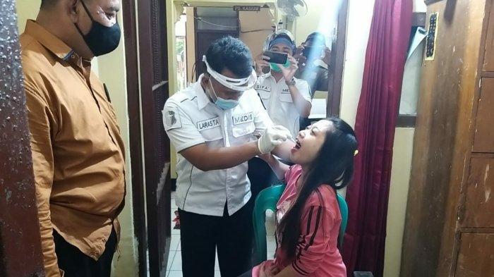 Puluhan Tahanan di Polres Mojokerto Kota Jalani Test Covid-19