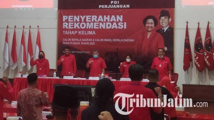 Jelang Pengumuman Rekomendasi Pilkada Surabaya, Puti Soekarno Duduk Depan Mimbar di Posisi DPR RI