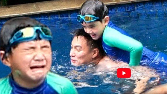 Rafathar diisengi Baim Wong berujung tenggelam dan nangis Nagita pun gercep meski sedang hamil muda