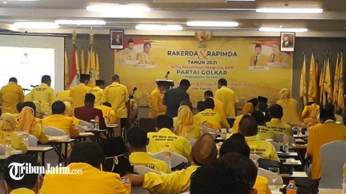 Persiapan Pemilu 2024, Bupati Gus Yani Harap DPD Golkar Kabupaten Gresik Semakin Kokoh