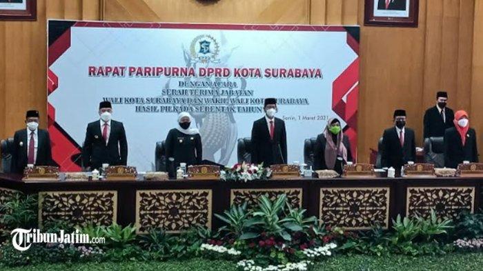 DPRD Rapat Paripurna Gelar Sertijab Wali Kota Surabaya, Eri Cahyadi Siap Terus Tancap Gas