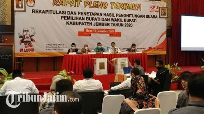 Diwarnai Permintaan Klarifikasi, Rapat Pleno Rekapitulasi Pilkada Jember 2020 Berlangsung Alot