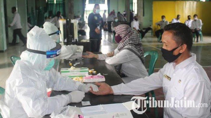 Rapid Tes di Kantor Kementerian Agama Kabupaten Kediri Rabu (16/12/2020).