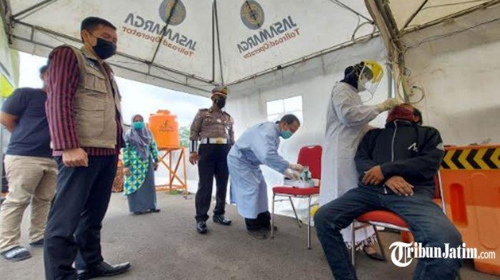 1.600 Rapid Test Antigen Disiapkan di Exit Tol Madyopuro, Periksa Pengedara Masuk ke Kota Malang