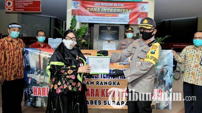 Polrestabes Surabaya Salurkan Ratusan APD ke Tiga Rumah Sakit Rujukan Covid-19 di Surabaya