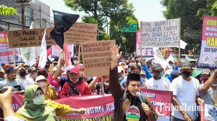 Ratusan Petani Lereng Gunung Kelud Ancam Duduki Kantor Pemkab Kediri, Minta Bertemu Bupati
