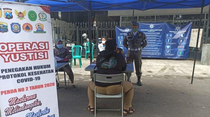 Razia Gabungan di Kota Kediri Temukan Puluhan Pelanggar Protokol Kesehatan