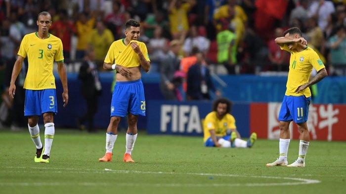 Pulang ke Brasil Setelah Takluk dari Belgia, Neymar dkk Disambut Lemparan Batu