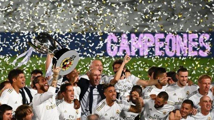 Hasil Real Madrid Vs Villarreal, Penalti Aneh Ramos, Real Madrid Juara Liga Spanyol untuk ke-34 Kali