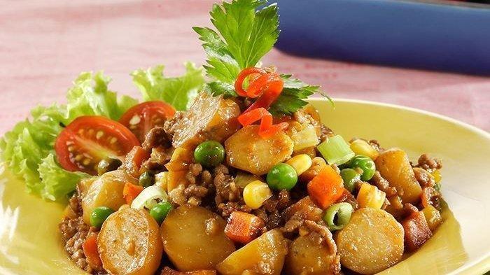 Resep 'Tumis Daging Kentang Mini', Enak Disantap Pakai Nasi Hangat, Menu Buka Puasa Anti Ribet