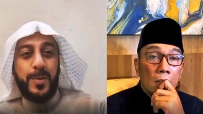 Pesan Menyejukkan Ridwan Kamil Bersama Syaikh Ali Jaber, Kenang Nasihat Ibu Wujudkan Program Religi