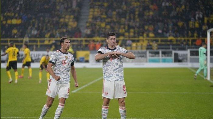 Robert Lewandowski Jadi Momok Buat Dortmund, Bayern Muenchen Angkat Trofi Piala Super Jerman