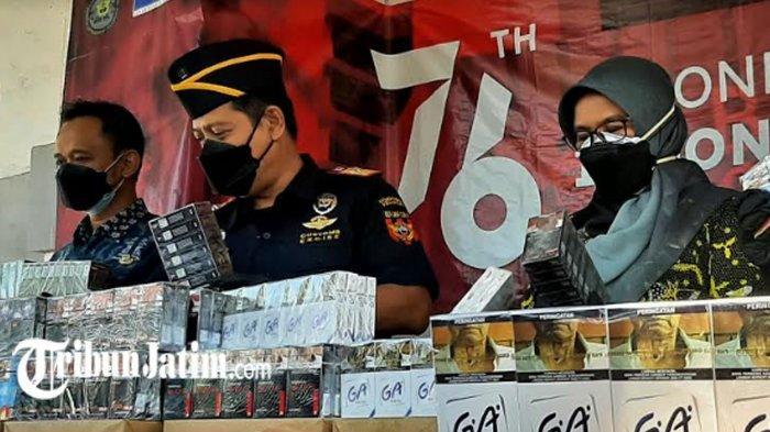 Tim Cyber Bea Cukai Gresik Ungkap Penjualan Rokok Tanpa Cukai Dijual Melalui Media Sosial