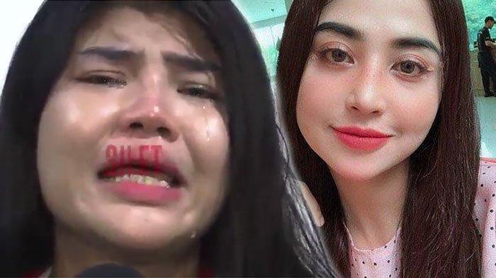 Rosa Meldianti menangis dilaporkan Dewi Perssik