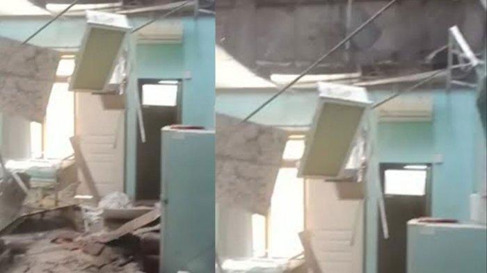 Dahsyat Gempa di Malang Terasa Sampai Kota Blitar, Atap Ruang Cempaka RSUD Mardi Waluyo Ambrol
