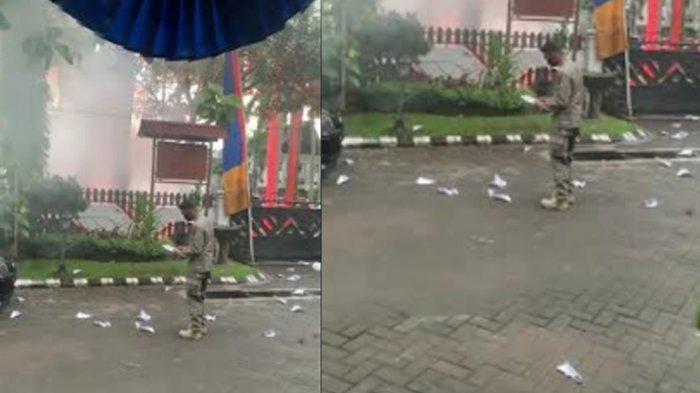 Gempar Rumah Dinas Wali Kota Malang, Dilempari Flare dan Kertas Tulisan 'Selamatkan Yayasan Arema'