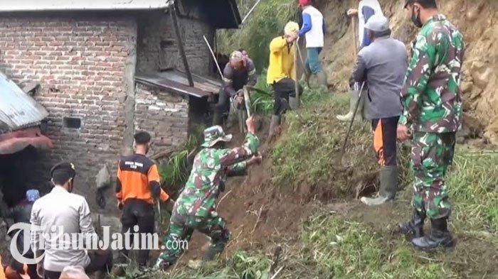 Tertimpa Tanah Longsor, 2 Rumah Warga di Kecamatan Poncol Magetan Rusak Parah: Ini Kali Kedua