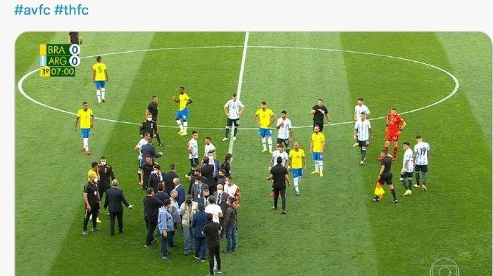 Kronologi Pertandingan Timnas Brasil Vs Timnas Argentina Dihentikan Mendadak, Messi Ngomel-ngomel