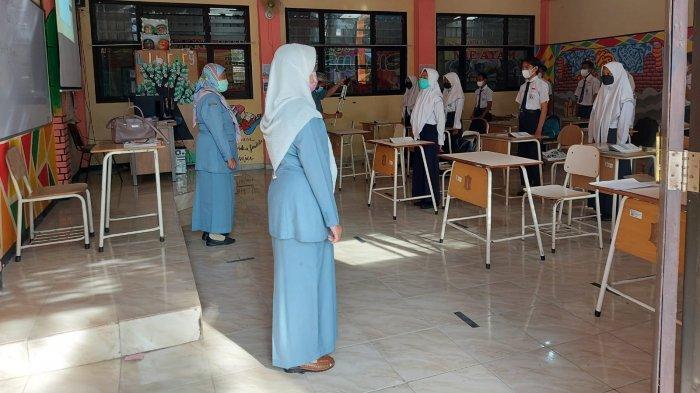 Begini Proses PTM Terbatas yang Dilakukan di SMPN 28 Surabaya