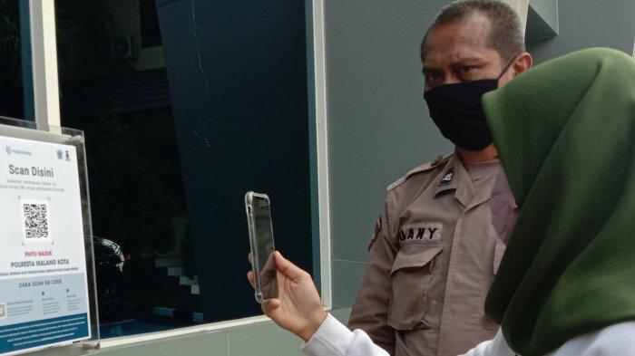 Mulai Hari Ini, Masuk Polresta Malang Kota Wajib Gunakan Aplikasi PeduliLindungi