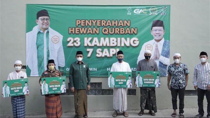Momentum Idul Adha, PKB Jatim Salurkan Seribu Ekor Hewan Kurban