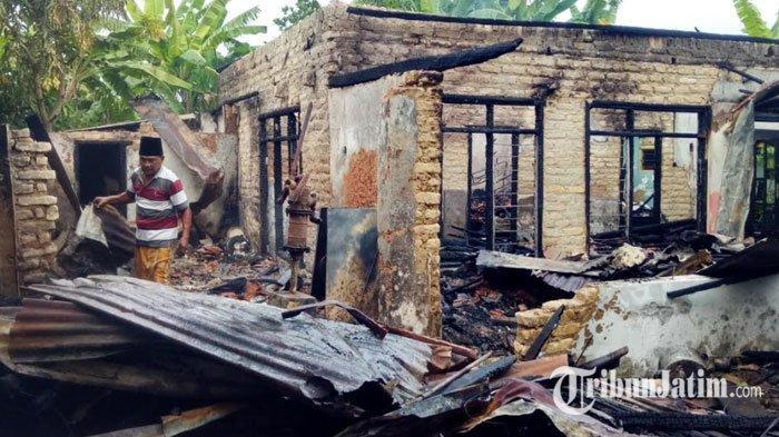 Masak Air Ditinggal Tidur, Rumah Janda di Pamekasan Ludes Terbakar, Kerugian Capai Ratusan Juta