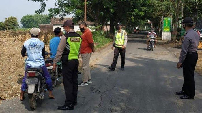 Kasus Positif Corona Meningkat, Tim Gabungan Kabupaten Nganjuk Gelar Operasi Yustisi