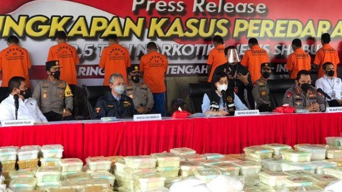 Polda Jatim Ikut Andil Ungkap Jaringan Internasional Peredaran Sabu 2,5 Ton Senilai Rp 1,2 T