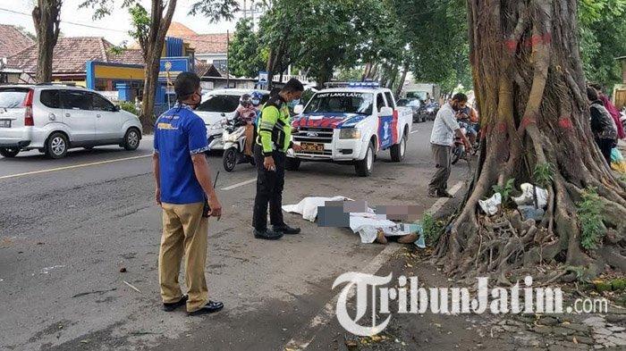 Motor Selip, Warga Sidoarjo Tabrak Trotoar Jalan di Mojokerto, Luka Parah di Kepala, Tewas di Lokasi